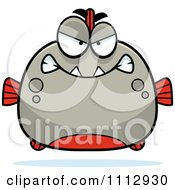 Clipart Angry Piranha Fish Royalty Free Vector Illustration by Cory Thoman