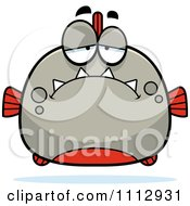 Clipart Depressed Piranha Fish Royalty Free Vector Illustration by Cory Thoman