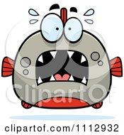 Clipart Frightened Piranha Fish Royalty Free Vector Illustration by Cory Thoman
