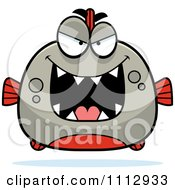 Clipart Sly Piranha Fish Royalty Free Vector Illustration by Cory Thoman