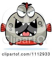Clipart Sly Piranha Fish Royalty Free Vector Illustration by Cory Thoman