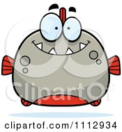 Clipart Happy Smiling Piranha Fish Royalty Free Vector Illustration by Cory Thoman