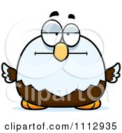 Clipart Bored Bald Eagle Royalty Free Vector Illustration