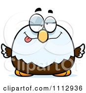 Clipart Dumb Bald Eagle Royalty Free Vector Illustration