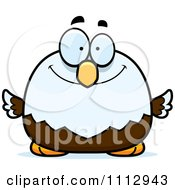 Clipart Happy Smiling Bald Eagle Royalty Free Vector Illustration