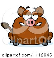 Clipart Bored Boar Royalty Free Vector Illustration by Cory Thoman