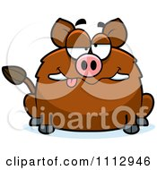 Clipart Drunk Boar Royalty Free Vector Illustration by Cory Thoman