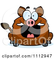 Clipart Happy Grinning Boar Royalty Free Vector Illustration by Cory Thoman