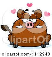 Clipart Boar In Love Royalty Free Vector Illustration by Cory Thoman