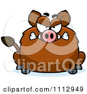 Clipart Angry Boar Royalty Free Vector Illustration by Cory Thoman