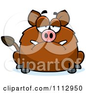 Clipart Depressed Boar Royalty Free Vector Illustration by Cory Thoman