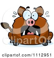 Clipart Frightened Boar Royalty Free Vector Illustration by Cory Thoman