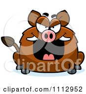 Clipart Sly Boar Royalty Free Vector Illustration by Cory Thoman