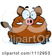 Clipart Happy Smiling Boar Royalty Free Vector Illustration by Cory Thoman