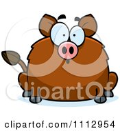 Clipart Surprised Boar Royalty Free Vector Illustration by Cory Thoman