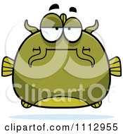 Clipart Bored Green Catfish Royalty Free Vector Illustration