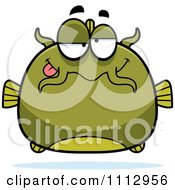 Clipart Dumb Green Catfish Royalty Free Vector Illustration