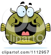 Clipart Excited Green Catfish Royalty Free Vector Illustration