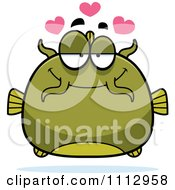 Clipart Green Catfish In Love Royalty Free Vector Illustration by Cory Thoman
