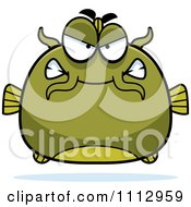 Clipart Angry Green Catfish Royalty Free Vector Illustration by Cory Thoman