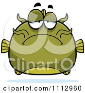 Clipart Depressed Green Catfish Royalty Free Vector Illustration by Cory Thoman