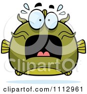 Clipart Frightened Green Catfish Royalty Free Vector Illustration by Cory Thoman