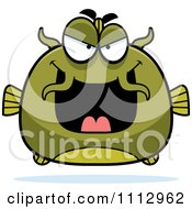 Clipart Sly Green Catfish Royalty Free Vector Illustration by Cory Thoman