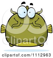 Clipart Happy Green Catfish Royalty Free Vector Illustration