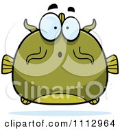 Clipart Surprised Green Catfish Royalty Free Vector Illustration by Cory Thoman