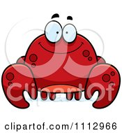 Clipart Happy Smiling Crab Royalty Free Vector Illustration by Cory Thoman