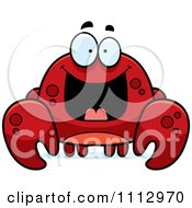 Clipart Excited Crab Royalty Free Vector Illustration
