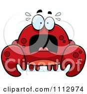 Clipart Frightened Crab Royalty Free Vector Illustration by Cory Thoman