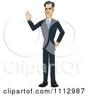 Clipart Mitt Romney Waving Royalty Free Vector Illustration by Cartoon Solutions #COLLC1112987-0176
