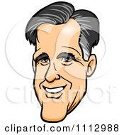 Clipart Mitt Romneys Smiling Face Royalty Free Vector Illustration by Cartoon Solutions #COLLC1112988-0176