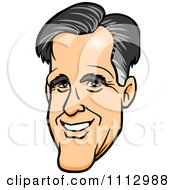 Clipart Mitt Romneys Smiling Face Royalty Free Vector Illustration