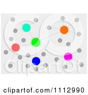 Clipart Colorful Orb Network Over Gray Royalty Free Illustration