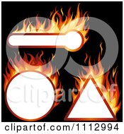 Clipart Flaming Design Elements With Copyspace Royalty Free Vector Illustration