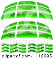 Clipart Reflective Green Glass Icon Buttons Royalty Free Vector Illustration by dero