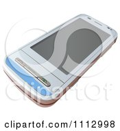 Clipart 3d White Smart Phone Royalty Free Vector Illustration by dero
