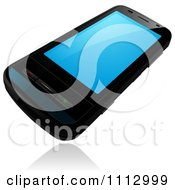 Clipart 3d Black Smart Phone Royalty Free Vector Illustration by dero