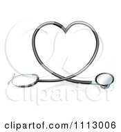 Clipart 3d Stethoscope Forming A Heart Royalty Free Vector Illustration