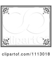 Clipart Black Ornate Frame With White Copyspace 1 Royalty Free Vector Illustration by Frisko