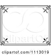 Clipart Black Ornate Frame With White Copyspace 2 Royalty Free Vector Illustration