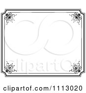 Black Ornate Frame With White Copyspace 3