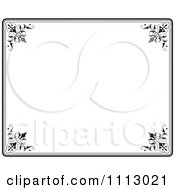 Clipart Black Ornate Frame With White Copyspace 4 Royalty Free Vector Illustration