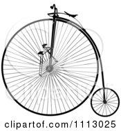 Clipart Vintage Penny Farthing Bike Royalty Free Vector Illustration by Frisko #COLLC1113025-0114
