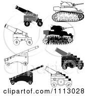 Black And White Canon And Tank Weapons