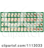 Clipart Full Deck Of Playing Cards On Green Royalty Free Vector Illustration