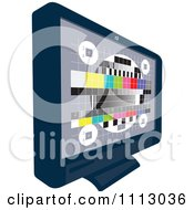 Clipart LCD Television Screen With A Test Signal Display Royalty Free Vector Illustration