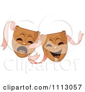 Clipart Drama Theater Tragedy Comedy Masks Royalty Free Vector Illustration by Pushkin